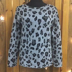 CONTEMPORAINE Leopard Print Knit Top